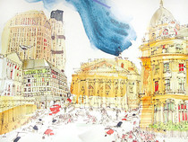 Watercolour of London by Philip Mount