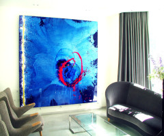Painting 'Lost in blue' by John Hoyland