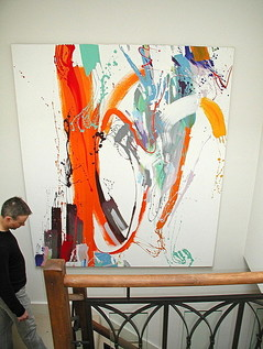 Abstract painting by Philip Mount