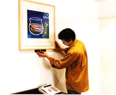 Nabarro - Installation of Bruce McClean framed print