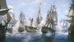 The battle of Trafalgar by John Groves RSMA
