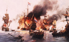 The Battle of Terschelling by John Groves RSMA