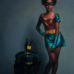 Sally Anne Fuerst 'Inflatable Batman and Robyn' detail Oil on canvas