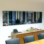 Tom Leighton Photomontage piece 'Shanghai and Dubai' at Sinopec