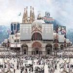 Tom Leighton Photomontage piece 'Hollywoodland' detail