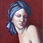 Sphinx'' Oil on canvas by Juliette Mehieux-Bartolli