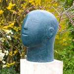 'Head II' Bronze sculpture by Christopher Marvell