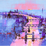 Colin Ruffell 'The Thames'  Acrylic on canvas