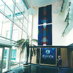 Sharon Ting Silkscreen hangings for Zurich Insurance