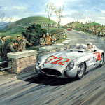 Michael Turner 'Stirling Moss Mille Miglia' Oil on canvas