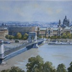 Bert Wright RSMA 'Budapest' Watercolour Commisioned for AIG