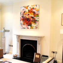 Chelsea - Painting by Karen Silve, Bronze Sculpture by Christopher Marvel and Etching by Matisse