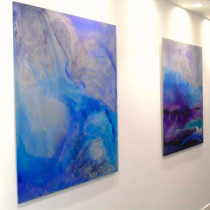 Nabarro - Paintings on aluminium by Julia Brooker